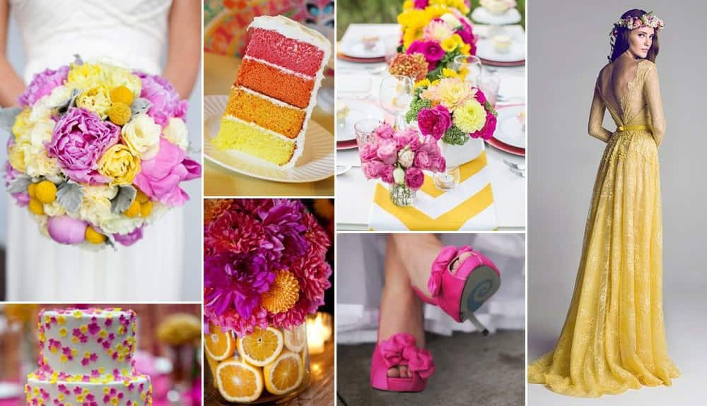 Spring+Summer+Wedding+Color+Palette+Pink+Fuchsia+Butter+Yellow+Gray_GoBespoke