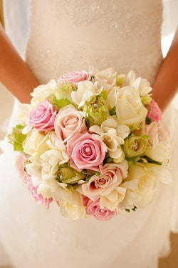 Wedding bouquet in the summer
