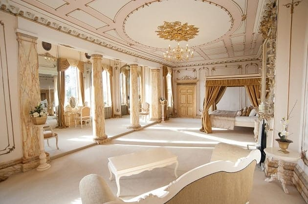 Inside the Rococo suite at Gosfield Hall