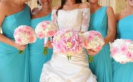 Bride and bridesmaid's bouquets